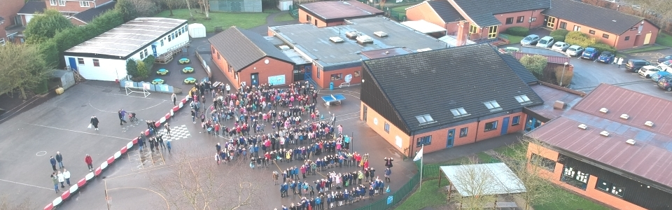 Whole school aerial view